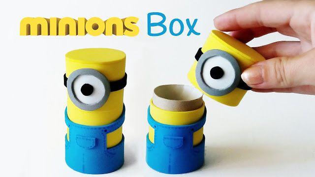 Fino all'Ultimo Filo... E un po' di più...: Minions Box riciclando i tubi di cartone della carta igienica