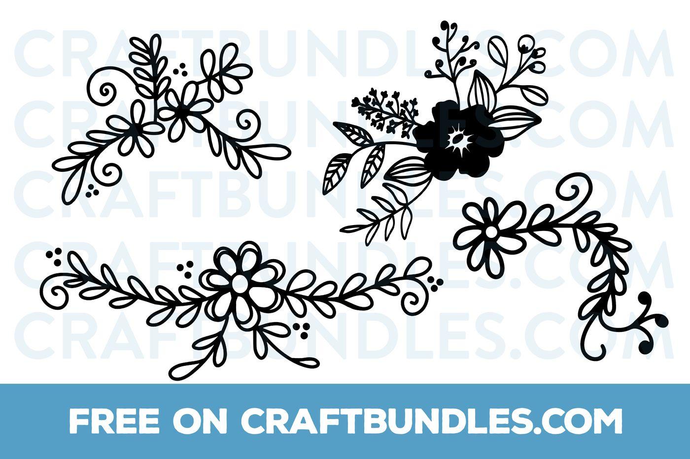 FREE Floral Doodles SVG Cut File | Cricut | Svg cuts, Floral