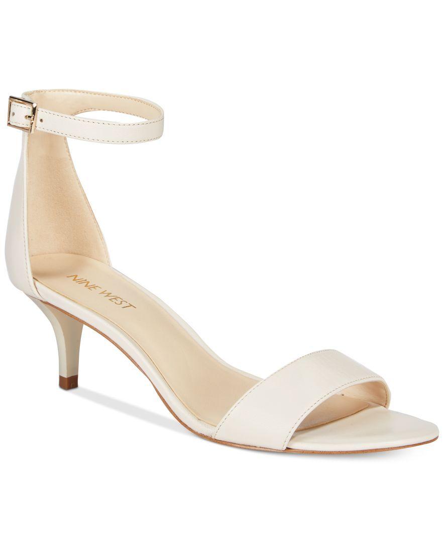 7ca5868302ed7 Leisa Two-Piece Kitten Heel Sandals | Products | Kitten heel sandals ...