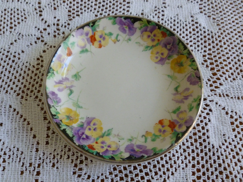 "Antique Ceramic Tile Vintage Floral Flower Leaf Art Nouveau Flowers Old 4.75/""W"