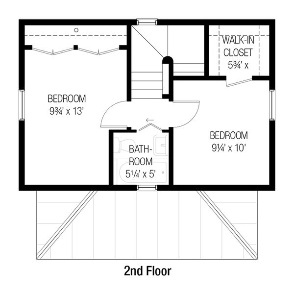 Cottage style house plan beds baths sq ft floor upper houseplans also rh in pinterest