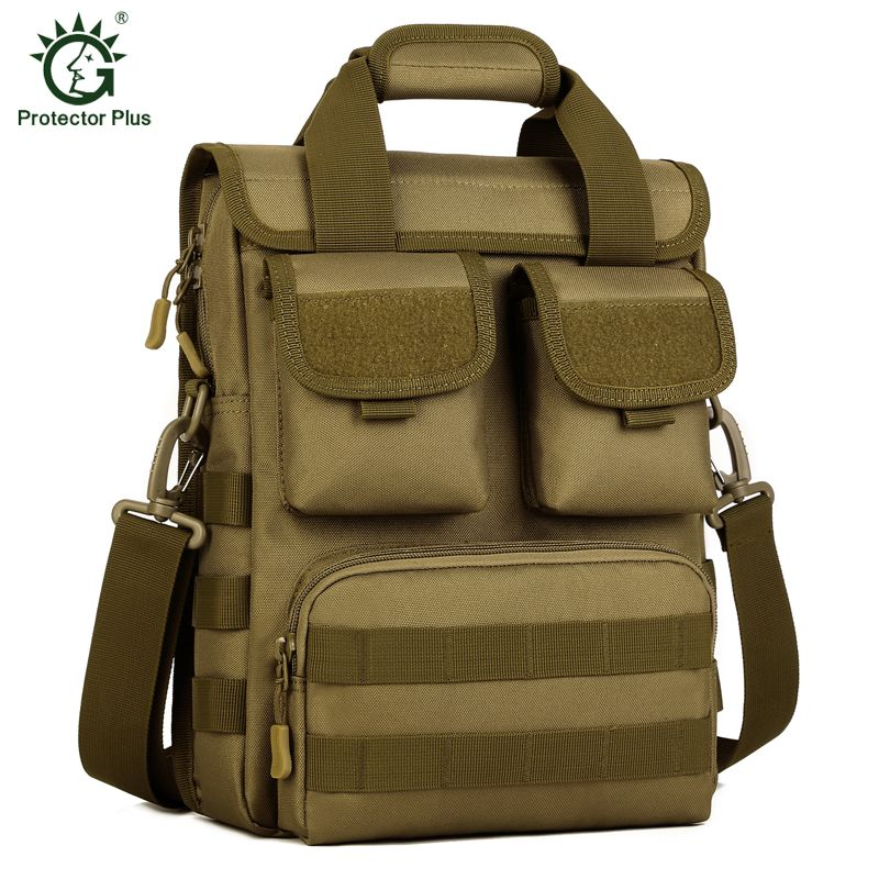1ca36720a79e Protector Plus Tactics Travel Laptop Tote Men Crossbody Hike Messenger Bag  Molle Woodland Sustainment Bag Army