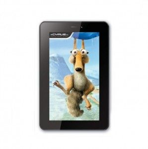 Cyrus Atom Action layer 7 inch 800 x 480 pixels reolusi been able to 3G as Wifi connectivity mainstay since this tablet is no Sim Card slot automatically be in use for Call and SMS for Qualcomm MSM7227 processor in the Arm -A 1GHz speed.