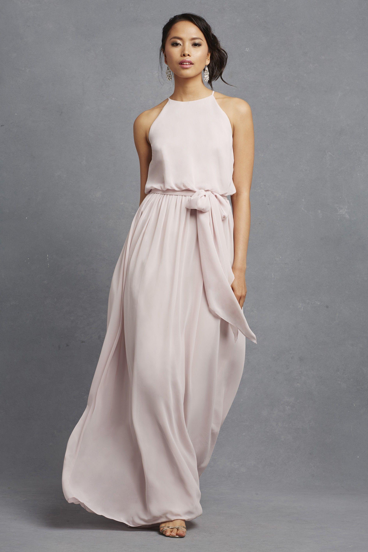 7969fade Alana dress, in Palest Pink | Donna Morgan | Wedding | Romantic ...
