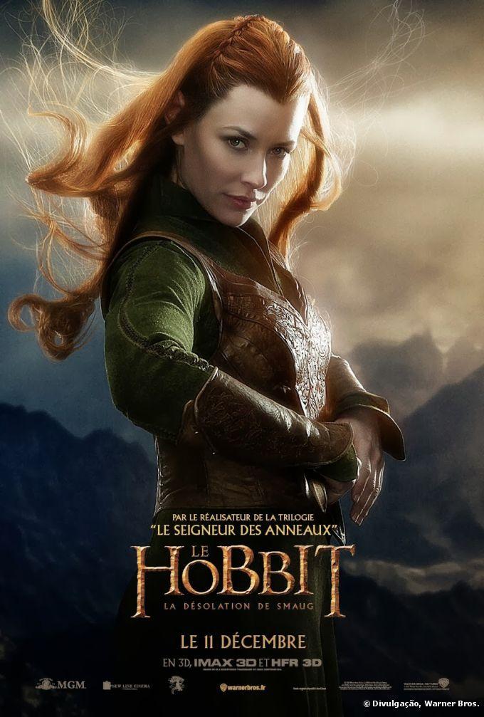o penteado romântico com tranças de evangeline lilly em o hobbit 2