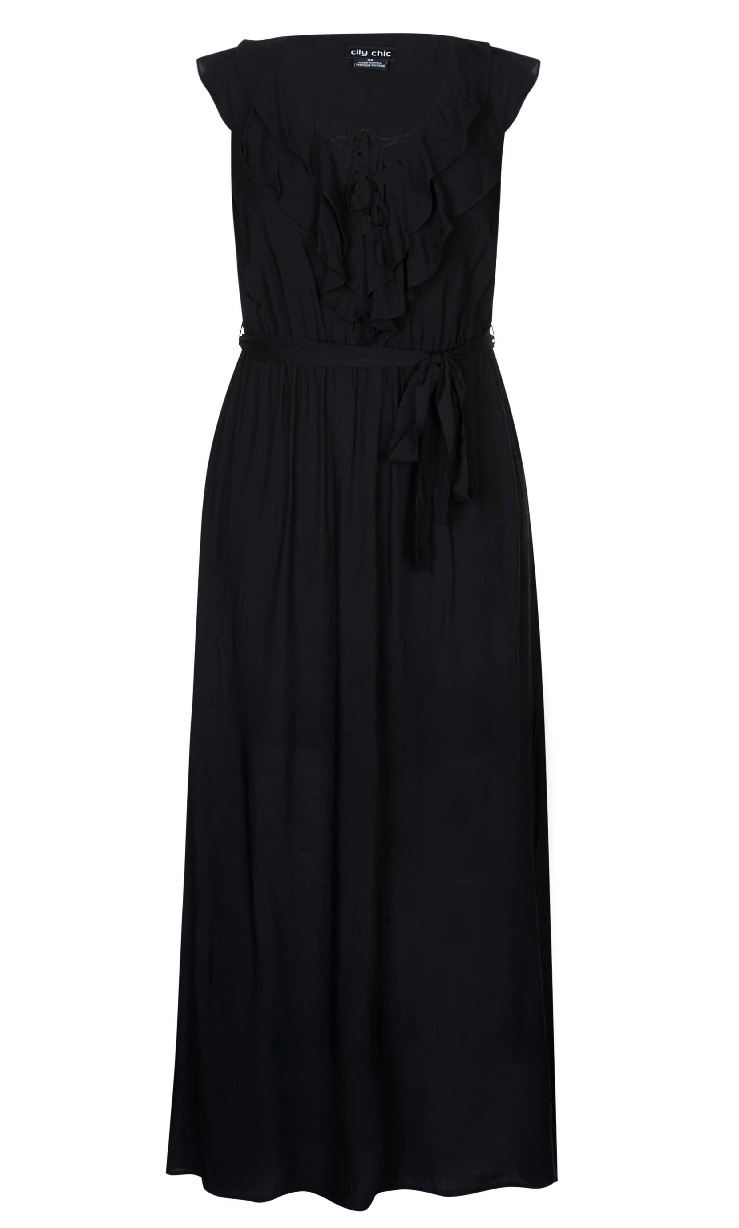 City chic sweet ruffle maxi dress womenus plus size fashion