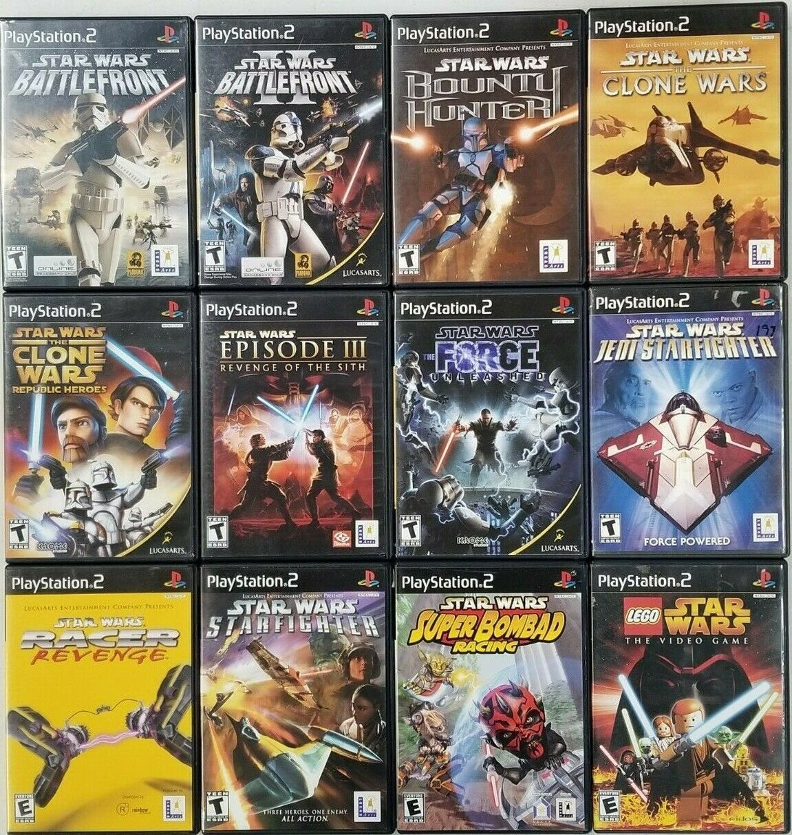 Star Wars Games Playstation 2 Ps2 Tested Star Wars Games Playstation Playstation 2