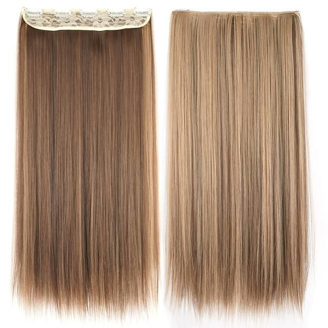 Brand Name: sooweeTexture: StraightMaterial Grade: High Temperature FiberWide of Weft: 10 inches with 5 clipsCan Be Permed: YesColor Type: Pure Color