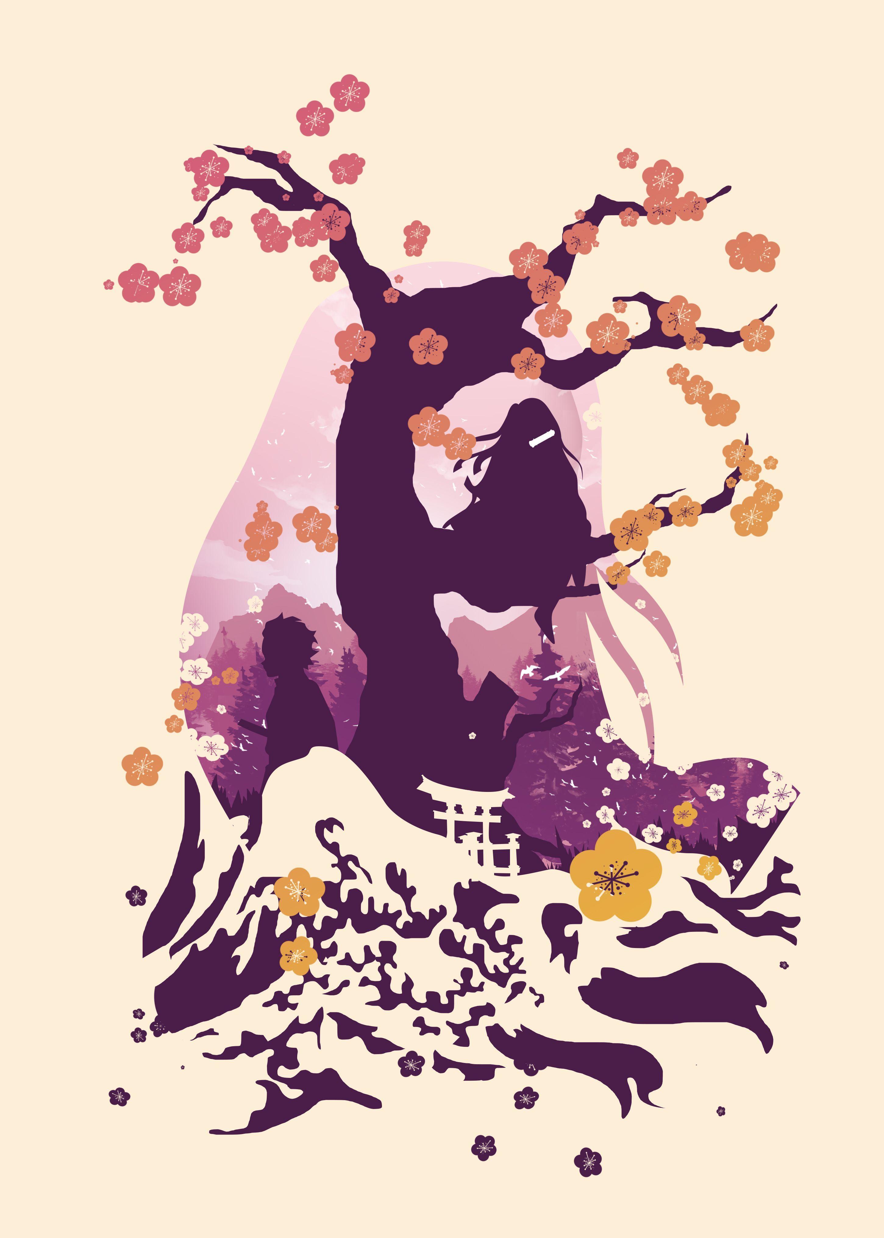 Nezukoデーモンスレイヤーアニメ・マンガのポスター印刷|メタルポスター | Displate thumbnail
