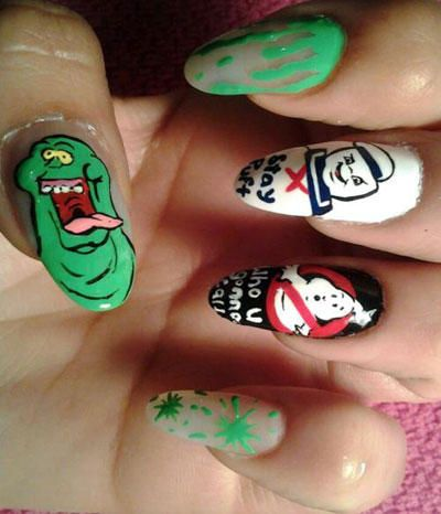 Epic Nail Art Ghostbusters Geeky Glamour Pinterest Nail Stuff
