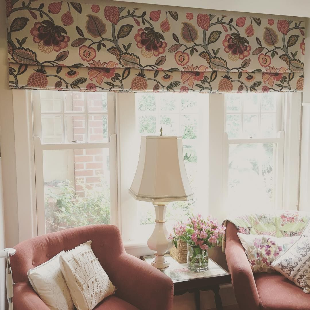 Designer Roman Blinds Really Compliment This Traditional