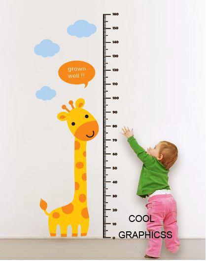 Children Wall Decal Giraffe Wall Decal Animals Wall Decal Boy Vinyl