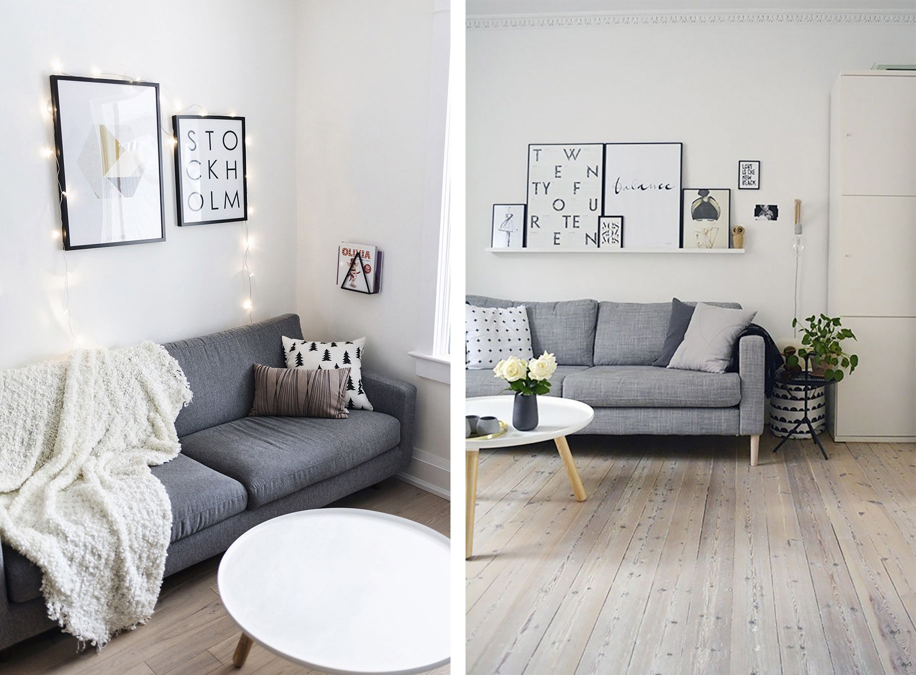 Scandinavian Living Room With Grey Sofa Top 10 Tips For Adding Style To Your