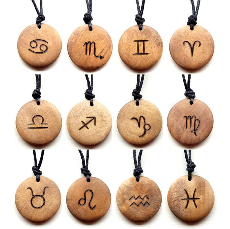 Star Sign Necklace Signs of the Zodiac Necklace Bi