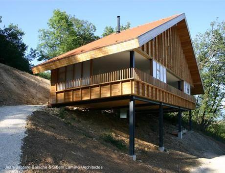Moderna casa de monta a en acero y madera en francia - Apartamentos de montana ...