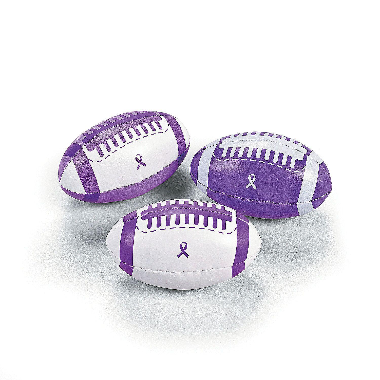 Toys For Epilepsy : Purple awareness ribbon footballs epilepsy
