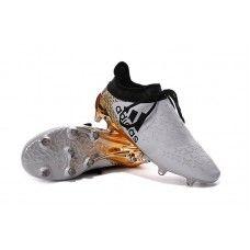 bf5d5de4a0 Adidas X 16 Purechaos FG   AG - Branco   Ouro Metálico   Core Preto sapatos  de futebol baratos