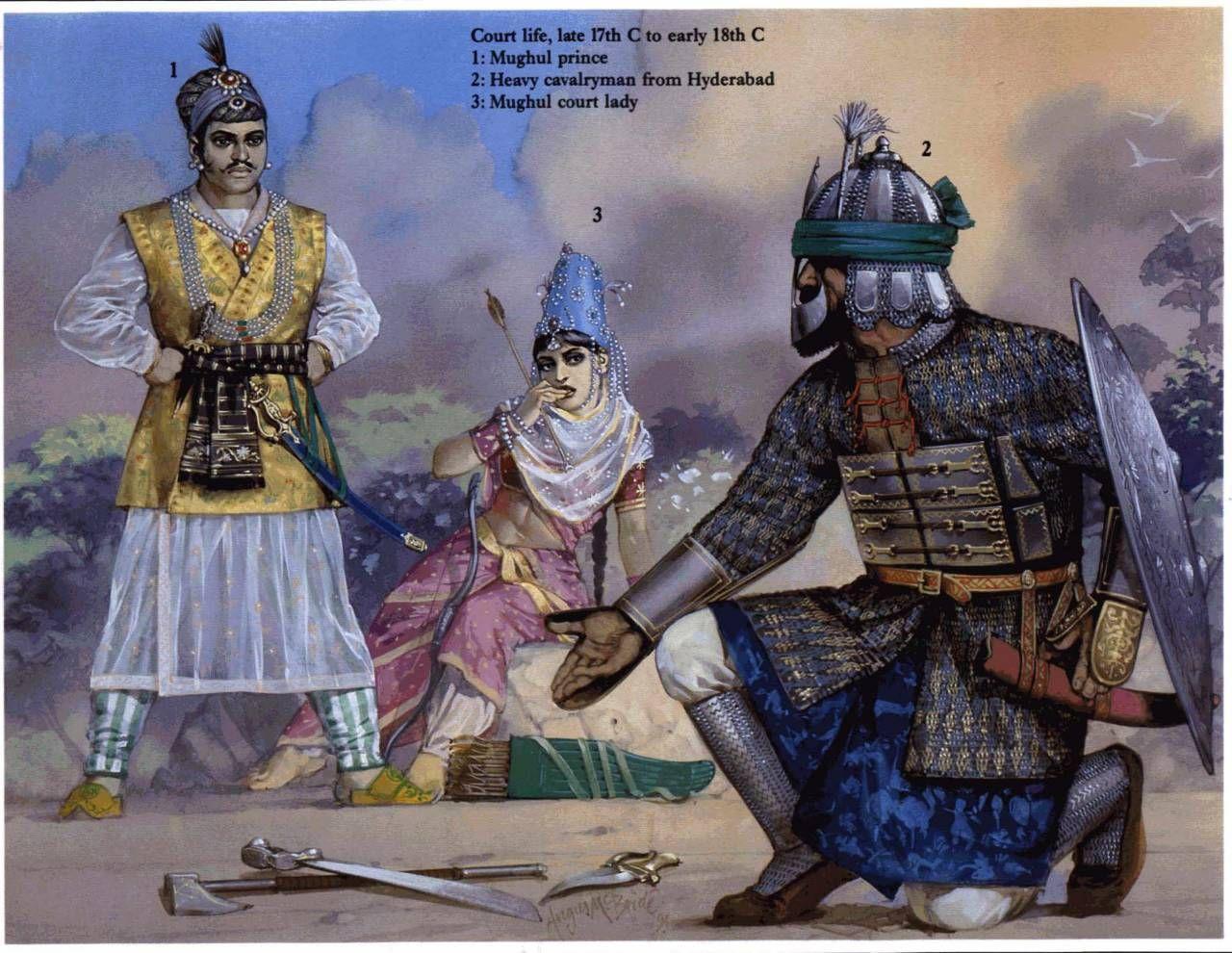 Angus McBride - Príncipes mogoles, C 1700