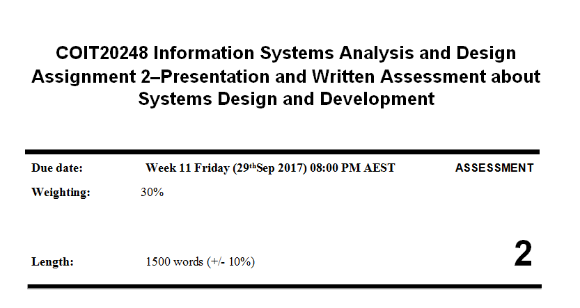 Coit Information Systems Analysis And DesignDuring Week