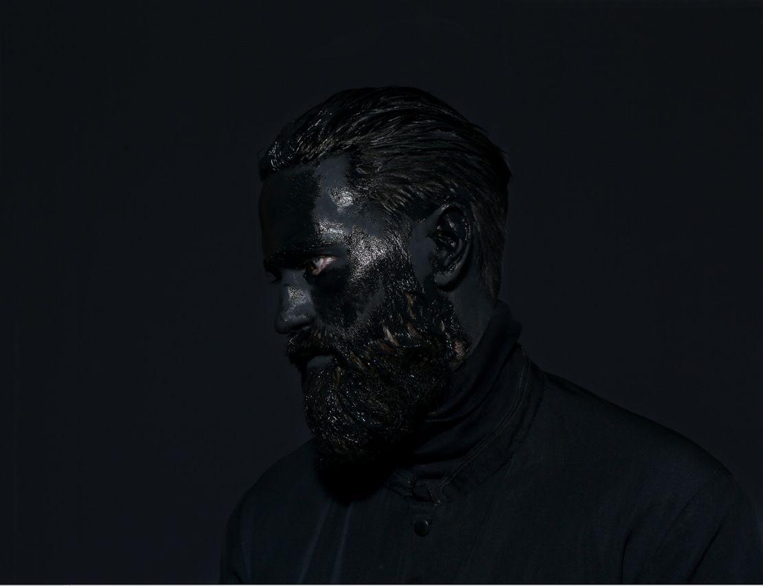 Mustafa Sabbagh #mustafasabbagh #black #mask #portrait #serie