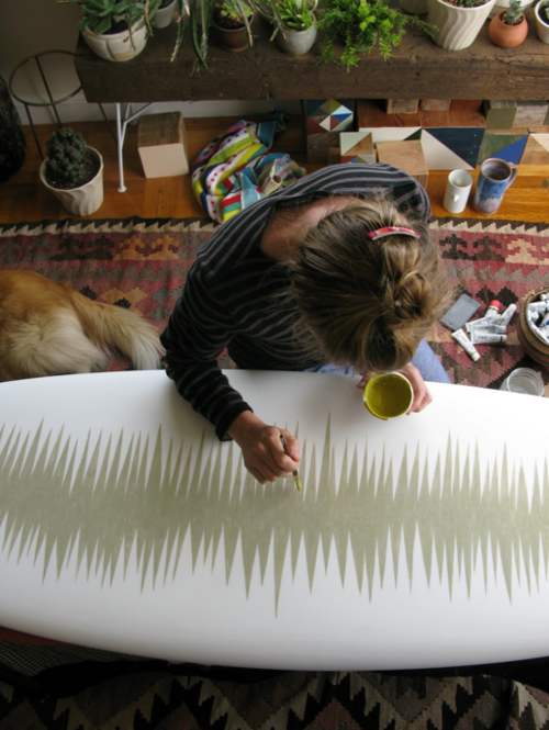 hand painted surf board