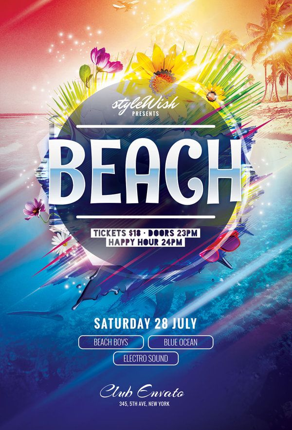 beach flyer by stylewish buy psd file 9 design poster
