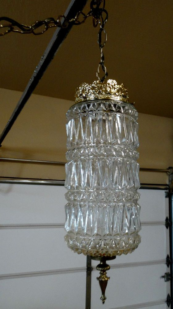 1fca2e46a340 9887  Vintage Mid Century Hanging Hollywood Regency SWAG Light Fixture    Lamp