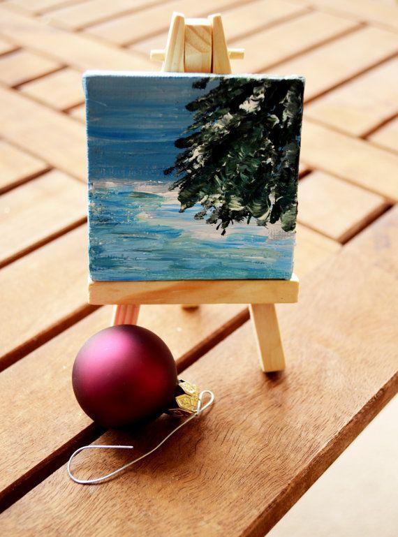 Painter Artist Easel Christmas Ornament Art