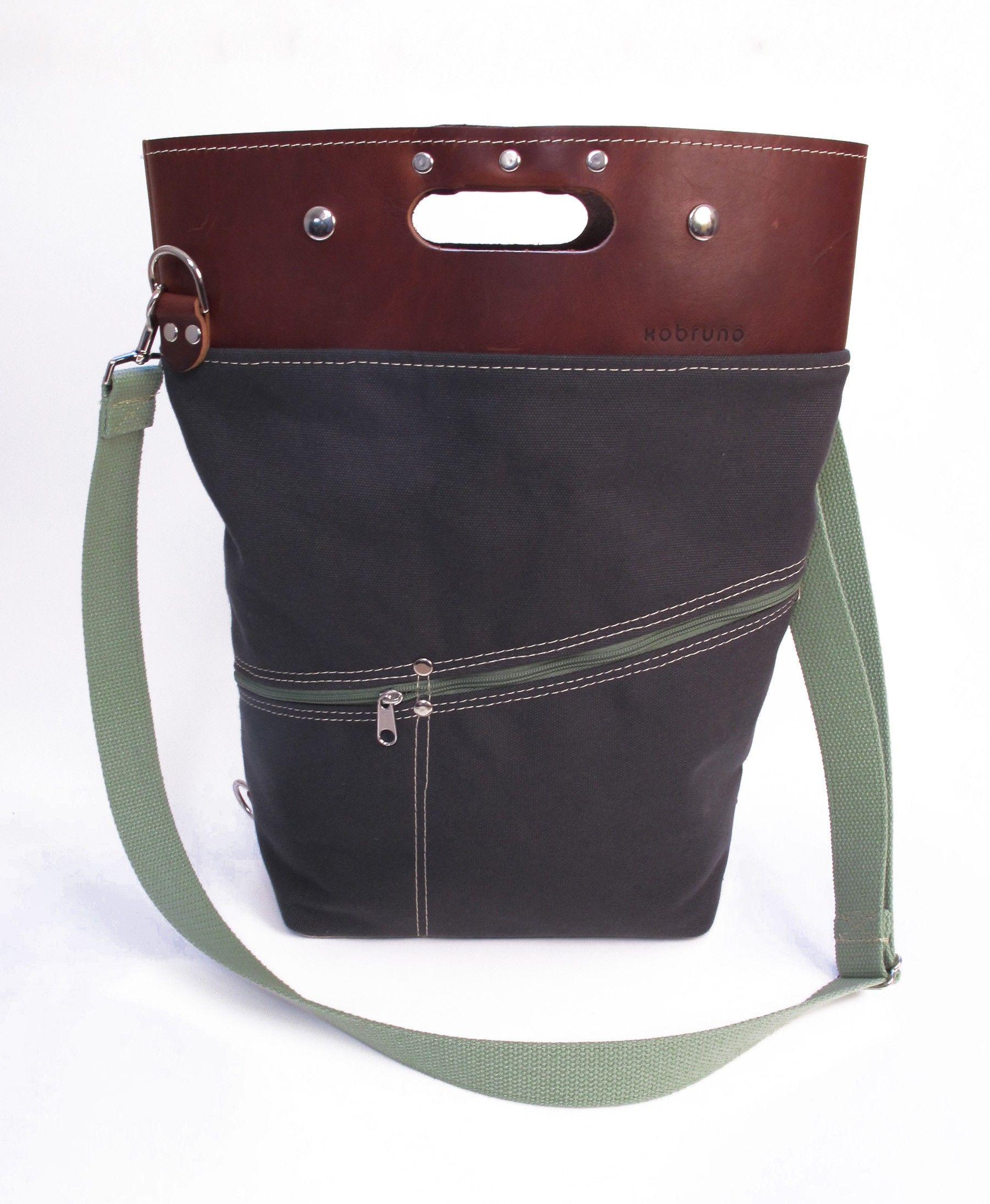 Charcoal & Olive Alvar Bag