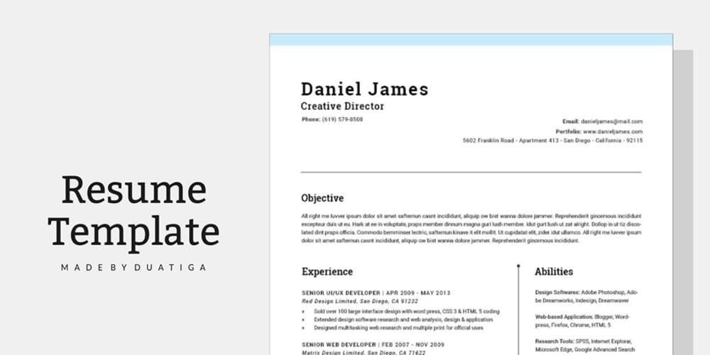 Ultimate Collection Of Free Resume Templates Css Author Cv Template Cv Design Template Cv Template Download