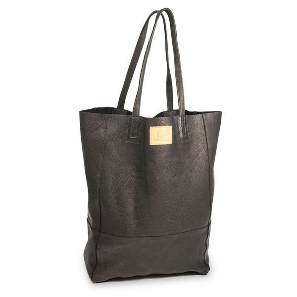 ethical-fashion-Black Leather Tote Bag - 1