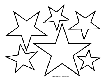 Star Template Templates Teachers Printable