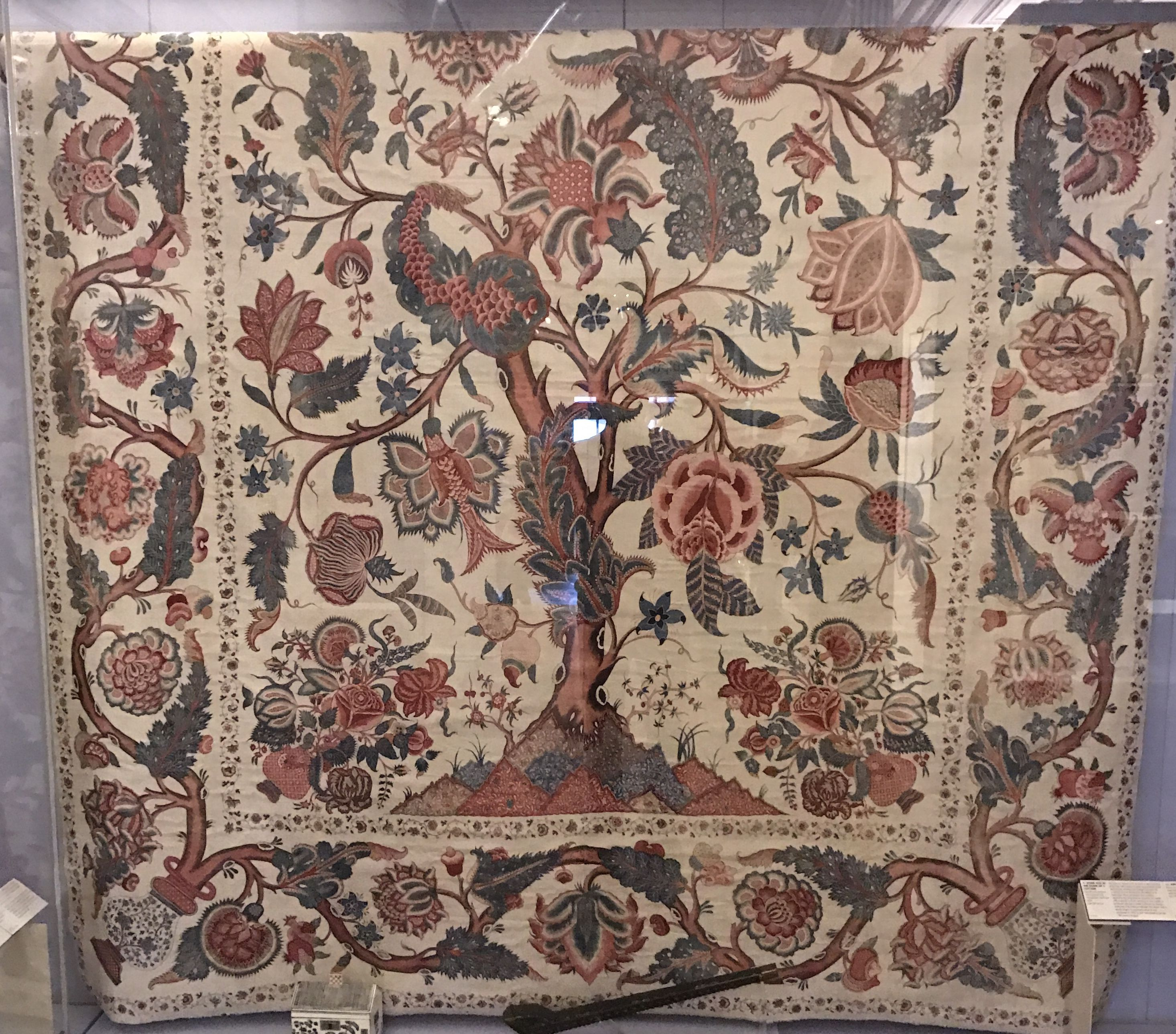 Part Of A Hanging Cotton Mordant Dyed And Resist Dyed Coromandel Coast South East India For The Western Market Age Circa 1700 25 Persian Rug Rugs Antique Rugs