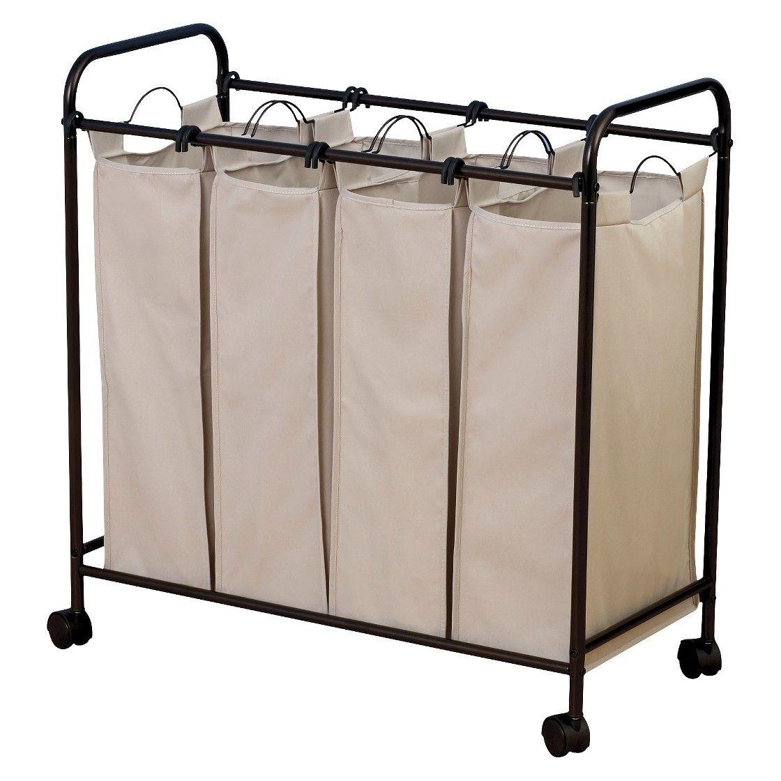 Household Essentials Quad Compartment Laundry Sorter Laundry