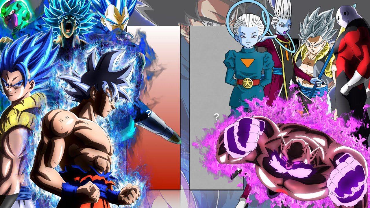 Vegeta Frieza Gogeta Broly Goku Vs Grand Priest Gogeta Jiren Toppo Whis Goku Vs Goku Frieza