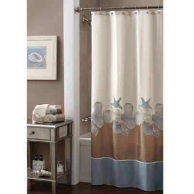 CroscillR Shells Ashore 70 Inch X 72 Shower Curtain