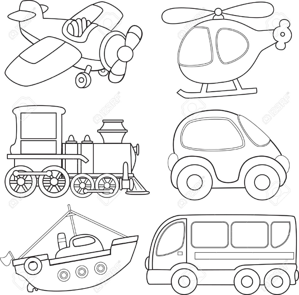 Cartoon Transport Coloring Book Coloring Books Coloring Pages Colouring Pages