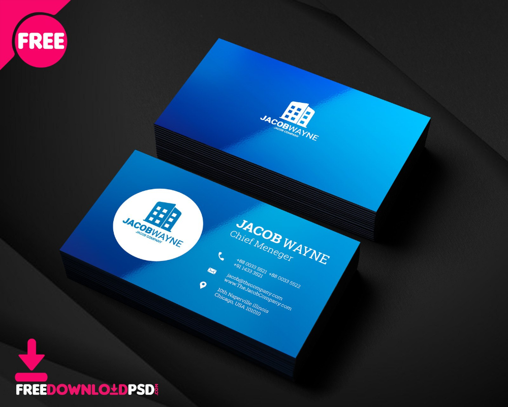 Real Estate Business Card Psd Freedownloadpsd Within Name Card Design Templat Create Business Cards Business Card Template Psd Business Card Template Photoshop