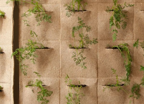 Ortofabbrica Living Wall Pouches Notcot Living Wall Vertical Garden Vertical Garden Diy