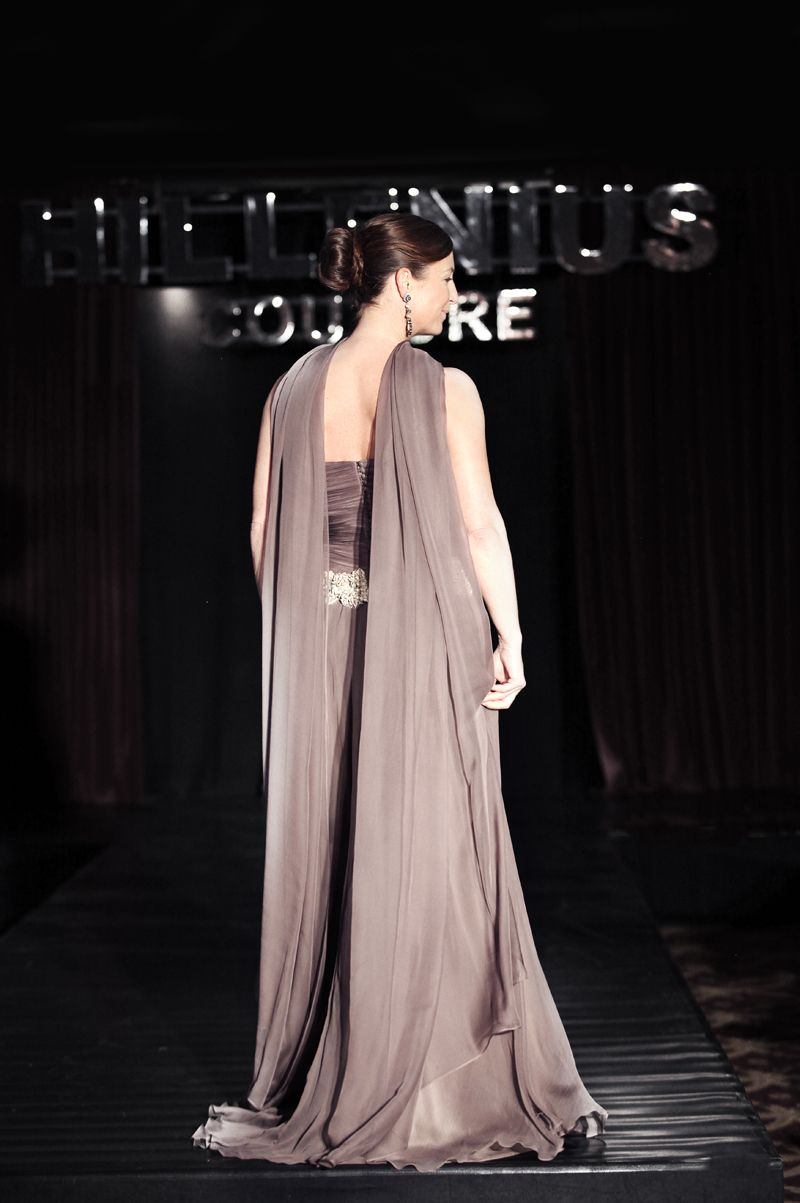 #Hillenius #Couture #Taupe #Chiffon #Corset #Evening #Dresses #Fashion #Jewelry