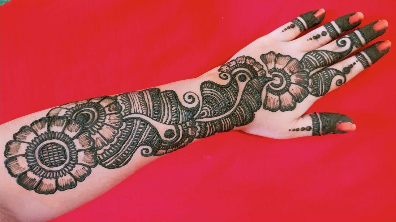 EASIEST SIMPLE ARABIC MEHNDI DESIGN TUTORIAL || आसान और सुंदर Back Hand अरबी  style मेहँदी डिज़... | Arabic mehndi designs, Henna designs, Mehndi patterns