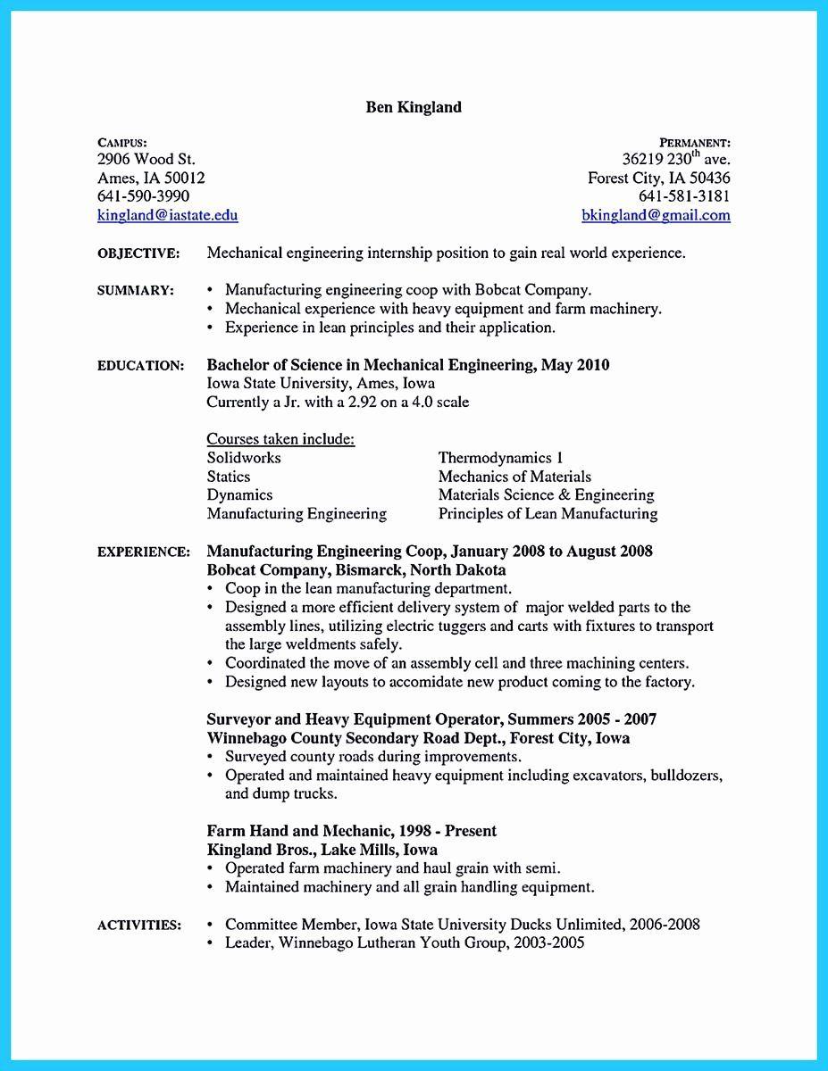 25 A&p Mechanic Resume in 2020 Engineering resume
