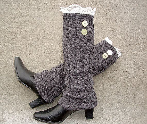 Knit Leg Warmers Boot Cuffs Socks