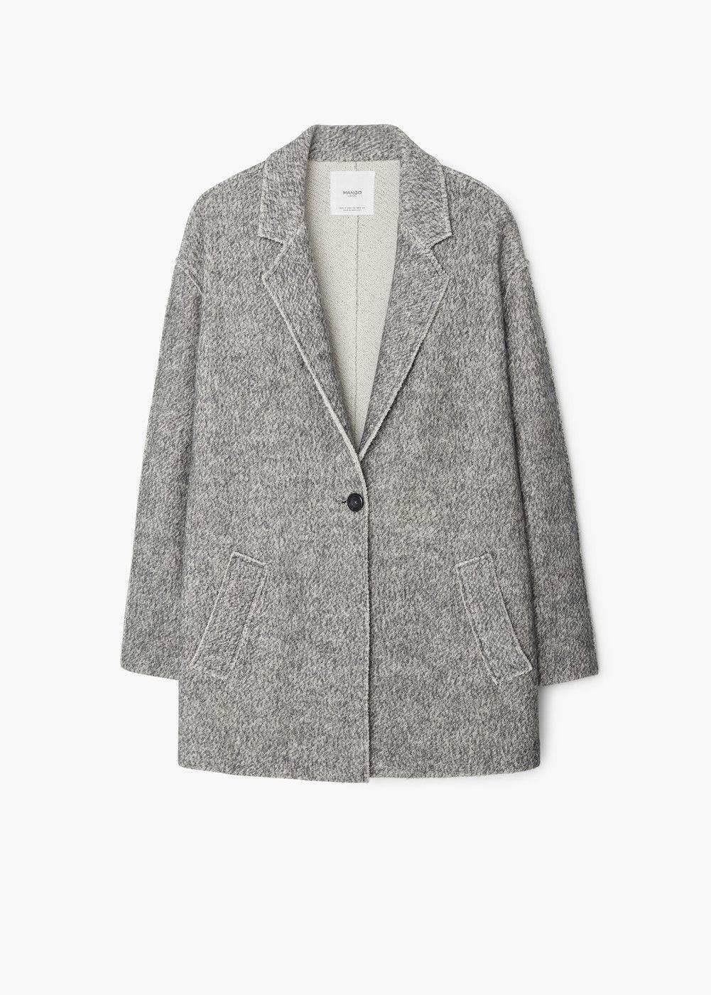 f133e64a0a2b Manteau jaspé coton - Femme   MANGO   clothes   Pinterest