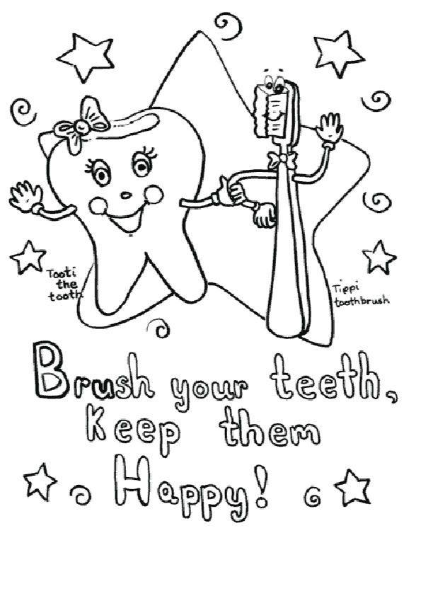 print coloring image | Dental, Dental health and Montessori homeschool