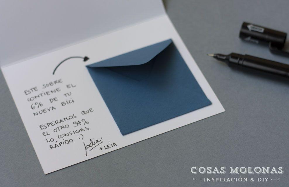 Diy tarjeta para regalar dinero versi n para l cosas for Cosas para regalar en una boda