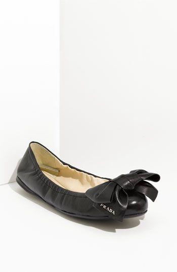 Prada Bow Ballerina Flat. I'm typically