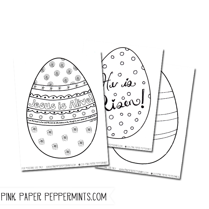 Jesus is Alive! 4 Printable Easter Egg Coloring Pages | Easter, Free ...