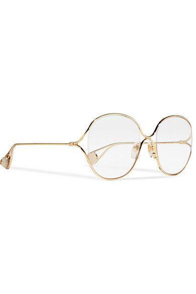 2dcae5ee42e21 Gucci - Round-frame gold-tone optical glasses