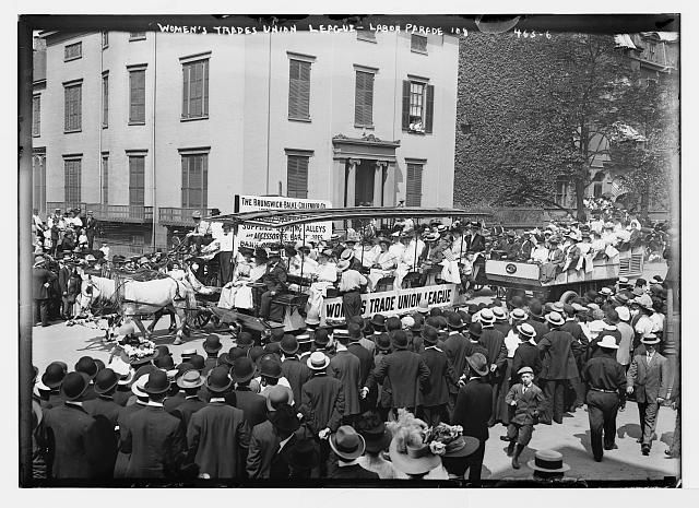 1908 Labor Day Parade Float Of Women S Trade Union League New York